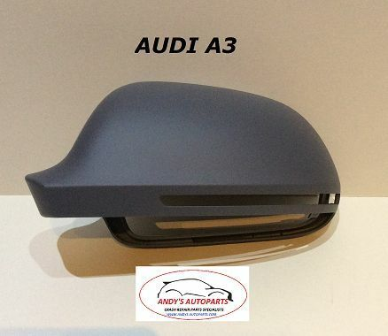 AUDI A3  2008 - 2012 WING MIRROR COVER L/H OR R/H PAINTED ANY AUDI COLOUR