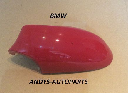 BMW 1 SERIES 04-09 GENUINE WING MIRROR COVER L/H OR R/H IN JAPAN RED