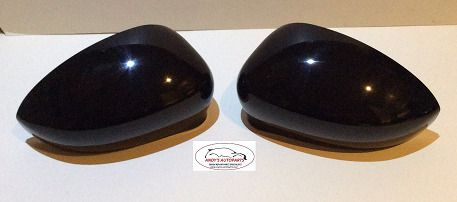 FIAT GRANDE PUNTO 06-2010 WING MIRROR COVER PAIR IN GLOSS BLACK .