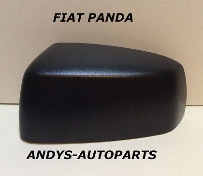 FIAT PANDA 2004 - 2011 WING MIRROR COVER L/H OR R/H BLACK GRAINED