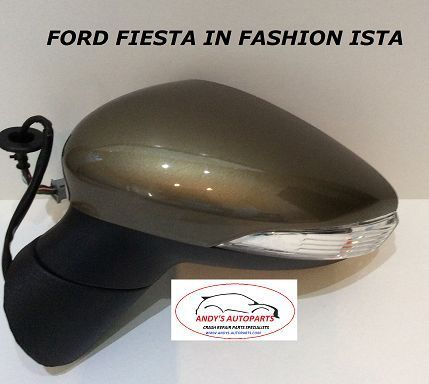 FORD FIESTA 08- 12 COMPLETE WING MIRROR LH OR RH IN FASHION ISTA