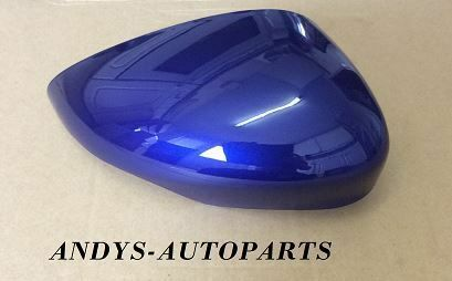 FORD FIESTA 08 ONWARDS GENUINE WING MIRROR COVER LH OR RH SIDE IN FORD SPIRIT BLUE