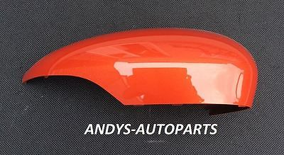 FORD FIESTA  2008 - 2017 GENUINE WING MIRROR COVER LH OR RH SIDE IN FORD CHILLY ORANGE