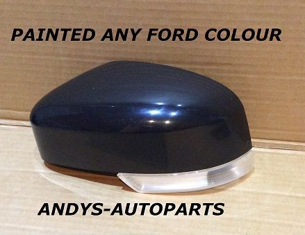 FORD FOCUS 08-2011 WING MIRROR COVER WITH LENS LH OR RH PAINTED ANY FORD COLOUR