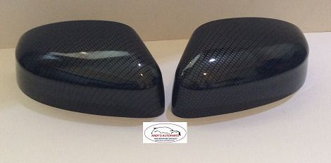 FORD FOCUS 08+ PAIR OF WING MIRROR COVERS IN CARBON FIBRE EFFECT HYDRO DIPPED