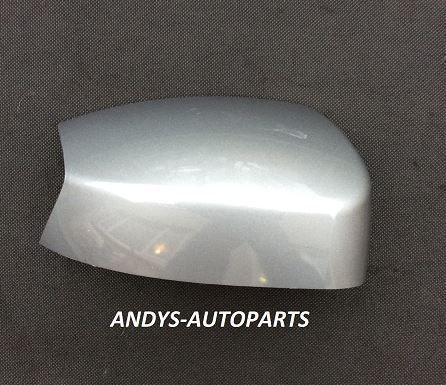 FORD S-MAX 05 - 10 WING MIRROR COVER LH OR RH IN MACHINE SILVER