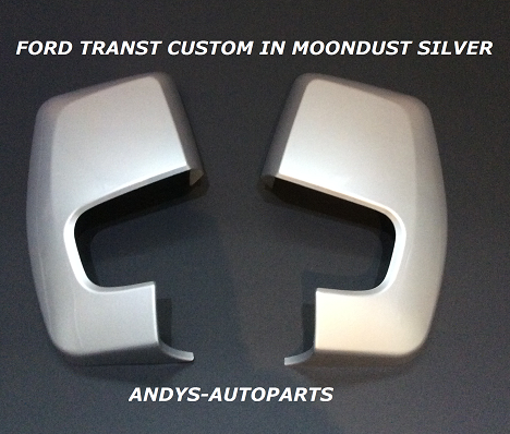 FORD TRANSIT CUSTOM 2012 ONWARDS PAIR WING MIRROR COVERS IN MOONDUST SILVER