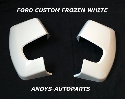 FORD TRANSIT CUSTOM  2012 + WING MIRROR COVER PAIR IN FORD FROZEN WHITE