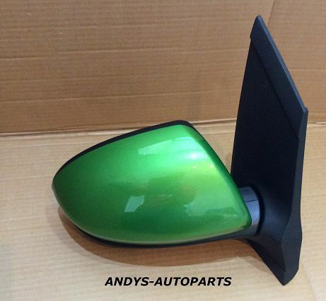 MAZDA 2 WING MIRROR ELEC NON HEATED  07 ONWARDS LH OR RH IN SPIRITED GREEN