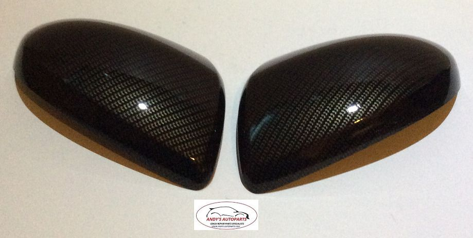FOCUS 08 ONWARDS WING MIRROR COVERS PAIR IN CARBON FIBRE HYDRO-DIP