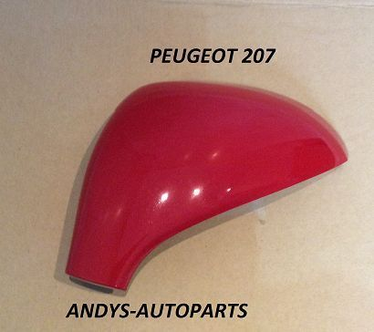 PEUGEOT 207 06 - 2013 WING MIRROR COVER LH OR RH IN ADEN RED