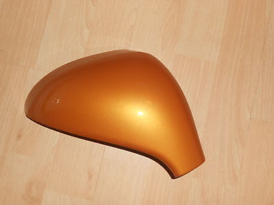 PEUGEOT 207 06 - 2013 WING MIRROR COVER LH OR RH IN SALAMANQUE ORANGE