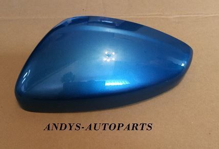 PEUGEOT 208. 2011 ONWARD GENUINE WING MIRROR COVER L/H OR R/H IN BELLE ILE BLUE