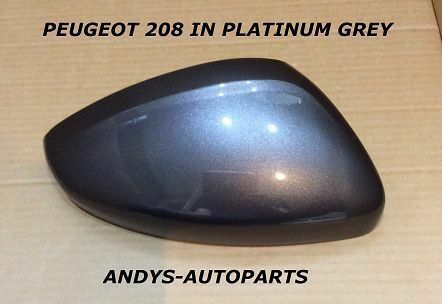 2013 ONWARD WING MIRROR COVER L//H OR R//H IN GRIS ARTENSE KCA PEUGEOT 308