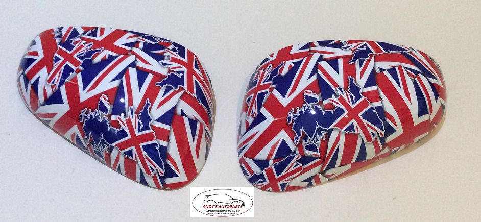 SEAT LEON 2005 - 2009 WING MIRROR COVER PAIR L/H & R/H IN UNION JACK