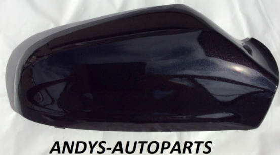 VAUXHALL ASTRA WING MIRROR COVER 54 - 2009 LH OR RH SIDE IN BLACK SAPPHIRE  (colour code: 20R / 2HU)