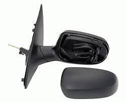 VAUXHALL CORSA C 01 -06 WING MIRROR COMPLETE MANUAL LH OR RH  WITH BLACK GRAINED