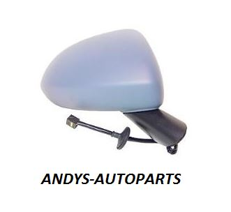 VAUXHALL CORSA D 2006 - 2011 COMPLETE WING MIRROR HEATED PRIMED