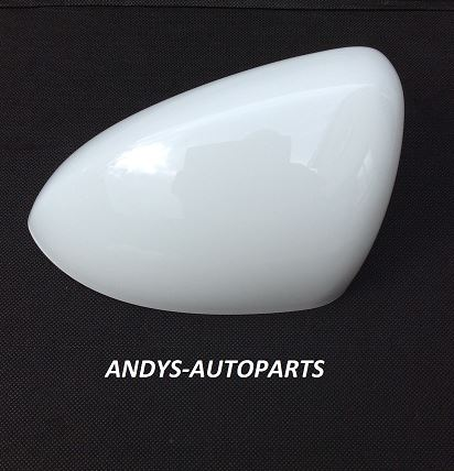 VAUXHALL / OPEL CORSA D 2006 ONWARDS WING MIRROR COVER LH OR RH PAINTED OLYMPIC WHITE 40R /GAZ