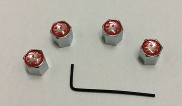VAUXHALL SET OF FOUR CHROME ANTI THEFT TYRE VALVE CAPS.