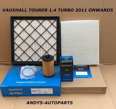 VAUXHALL TOURER 1.4L TURBO 16V  2011 ONWARDS  FILTER SERVICE KIT