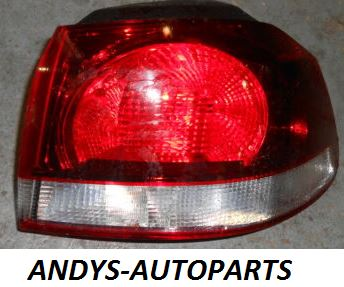 Volkswagen Golf 2009 - 2012  Rear Lamp Outer Section - Black (Standard Models)