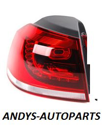 Volkswagen Golf 2009 - 2012  Rear Lamp Outer Section - Smoked (GTi Models)