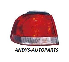 Volkswagen Golf 2009 - 2014 Rear Lamp Outer Section - Red - Hella Design (Standard Models)
