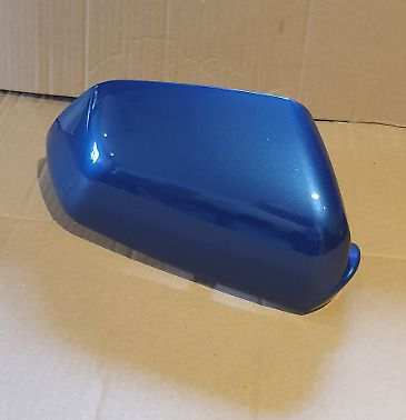VW POLO 2005 - 2009 WING MIRROR COVER DRIVER SIDE IN OLYMPIAN BLUE
