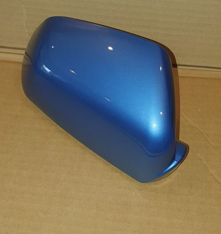 VW POLO 2005 - 2009 WING MIRROR COVER L/H OR R/H IN TOSSA BLUE LA5R
