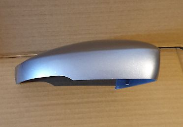 VW POLO 2008 ONWARDS DRIVER SIDE WING MIRROR COVER IN TUNGSTEN SILVER B7W