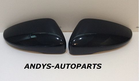 VW SCIROCCO 2008 ONWARDS PAIR OF WING MIRROR COVER L/H & R/H IN GLOSS BLACK